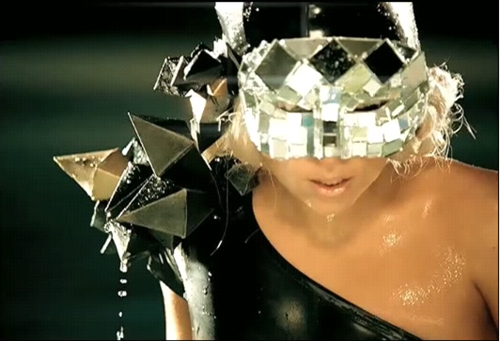 lady gaga with some glittery headgear on, from Pokerface